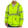 Carhartt Men's High-Visibility Zip Front Class 3 Sweatshirt - 4XL - Brite Lime