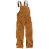 Carhartt Men's Duck Overall Bib - 44x30 - Carhartt Brown