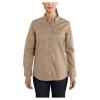Carhartt Women's Flame Resistant Rugged Flex Twill Shirt - Small - Khaki