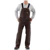 Carhartt Men's Sandstone Bib Overall - 46x32 - Dark Brown