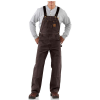 Carhartt Men's Sandstone Bib Overall - 48x32 - Dark Brown