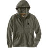 Carhartt Men's Force Delmont Graphic Full Zip Hooded Sweatshirt - XXL Tall - Moss Heather