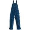 Carhartt Men's Washed Denim Bib Overall - 52x32 - Darkstone