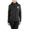 Carhartt Women's Force Delmont Graphic Zip-Front Hooded Sweatshirt - XXL - Black Heather