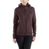 Carhartt Women's Force Delmont Graphic Zip-Front Hooded Sweatshirt - XXL - Fudge Heather
