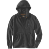 Carhartt Men's Force Delmont Graphic Full Zip Hooded Sweatshirt - Large Regular - Black Heather