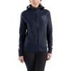 Carhartt Women's Force Delmont Graphic Zip-Front Hooded Sweatshirt - XS - Navy Heather