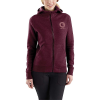 Carhartt Women's Force Delmont Graphic Zip-Front Hooded Sweatshirt - Medium - Mangosteen Heather