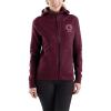 Carhartt Women's Force Delmont Graphic Zip-Front Hooded Sweatshirt - Large - Mangosteen Heather