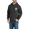 Carhartt Men's Force Delmont Pullover Hooded Sweatshirt - 4XL - Black Heather
