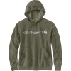Carhartt Men's Force Delmont Signature Graphic Hooded Sweatshirt - XXL Tall - Moss Heather