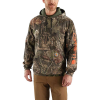 Carhartt Men's Midweight Camo Sleeve Logo Hooded Sweatshirt - Small Regular - Mossy Oak Break-Up Country