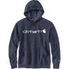 Carhartt Men's Force Delmont Signature Graphic Hooded Sweatshirt - 3XL Regular - Navy Heather