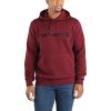 Carhartt Men's Force Delmont Signature Graphic Hooded Sweatshirt - Medium Regular - Red Brown Heather