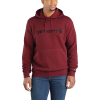 Carhartt Men's Force Delmont Signature Graphic Hooded Sweatshirt - Large Regular - Red Brown Heather