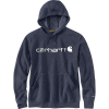 Carhartt Men's Force Delmont Signature Graphic Hooded Sweatshirt - Large Regular - Navy Heather