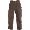 Carhartt Men's Washed Duck Double Front Work Dungaree Pant - 42x34 - Dark Brown
