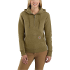 Carhartt Women's Clarksburg Half-Zip Hooded Sweatshirt - Large - Oiled Walnut Heather