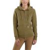 Carhartt Women's Clarksburg Half-Zip Hooded Sweatshirt - XXL - Oiled Walnut Heather