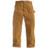 Carhartt Men's Firm Duck Double-Front Work Dungaree Pant - 46x30 - Carhartt Brown