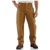 Carhartt Men's Firm Duck Double-Front Work Dungaree Pant - 48x30 - Carhartt Brown