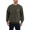 Carhartt Men's Crewneck Pocket Sweatshirt - Large Tall - Moss