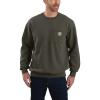 Carhartt Men's Crewneck Pocket Sweatshirt - 3XL Tall - Moss
