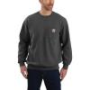 Carhartt Men's Crewneck Pocket Sweatshirt - Large Tall - Carbon Heather