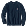 Carhartt Men's Crewneck Pocket Sweatshirt - Small Regular - New Navy