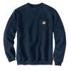 Carhartt Men's Crewneck Pocket Sweatshirt - Medium Regular - New Navy