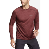 Eddie Bauer Motion Men's Resolution LS Tee - Large - Dark Berry