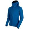Mammut Men's Ultimate V SO Hooded Jacket - Medium - Sapphire / Wing Teal Melange