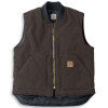 Carhartt Men's Sandstone Vest - Medium Regular - Dark Brown
