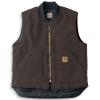 Carhartt Men's Sandstone Vest - Large Tall - Dark Brown