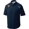 Columbia Men's Collegiate Tamiami SS Shirt - XL - Wv - Collegiate Navy