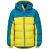 Marmot Boys' Guides Down Hoody - Large - Citronelle / Moroccan Blue