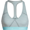 Icebreaker Women's Sprite Racerback Bra - Large - Blizzard Heather / Aqua Splash / Stripe