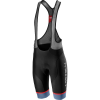 Castelli Men's Free Aero Race 4 Bibshort Kit - Large - Black/Light Steel Blue