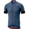 Castelli Men's Aero Race 4.1 Solid Full Zip Jersey - Large - Light Steel Blue