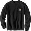 Carhartt Men's Crewneck Pocket Sweatshirt - Large Tall - Black
