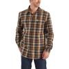 Carhartt Men's Hubbard Flannel LS Shirt - XL Regular - Navy