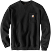 Carhartt Men's Crewneck Pocket Sweatshirt - 4XL Regular - Black