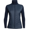 Icebreaker Women's Lumista Hybrid Sweater Jacket - XS - Midnight Navy