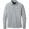 Outdoor Research Men's Astroman LS Sun Shirt - Large - Solid Light Pewter