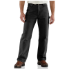 Carhartt Men's Washed Duck Work Dungaree Flannel Lined Pant - 30x34 - Black