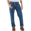 Carhartt Men's Relaxed Fit Straight Leg Flannel Lined Jean - 42x34 - Darkstone