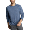 Eddie Bauer Motion Men's Resolution LS Tee - Medium - Heather Blue