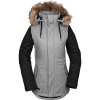 Volcom Women's Fawn Insulated Jacket - Large - Heather Grey