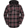 Volcom Men's Field Insulated Flannel Jacket - Large - Red