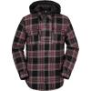 Volcom Men's Field Insulated Flannel Jacket - Medium - Red